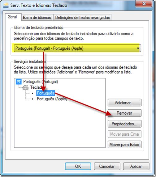 configurar teclado windows server 2012